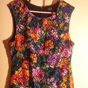 Worthington Floral Lace Sheath Dress Sz 12
